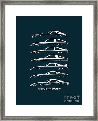 Japanese Sports Car Silhouettehistory Framed Print by Gabor Vida