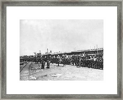 Japanese Troops In Manchuria Framed Print by Underwood Archives