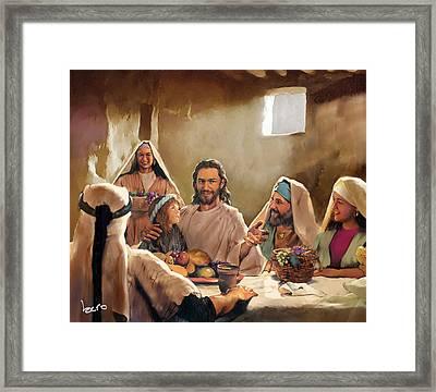 Jesus Framed Print by Kero Magdy