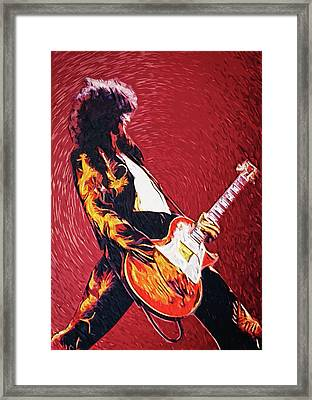 Jimmy Page  Framed Print by Taylan Apukovska