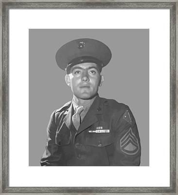 John Basilone Framed Print by War Is Hell Store