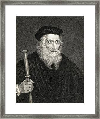 John Wycliffe Also Spelled Wycliff Framed Print by Vintage Design Pics