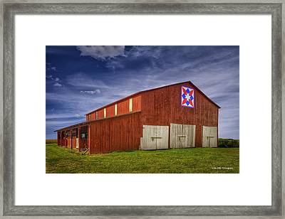 Kentucky Quilt Barn Framed Print by Wendell Thompson