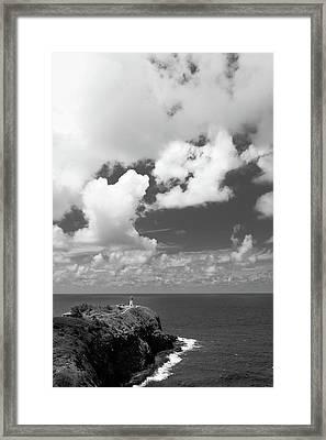 Kilauea Lighthouse Overlooking The Pacific Ocean In Kauai, Hawaii Framed Print by Bradley Hebdon