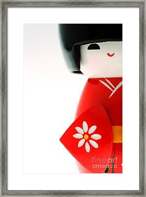 Kokeshi Doll Framed Print by Larry Dale Gordon - Printscapes