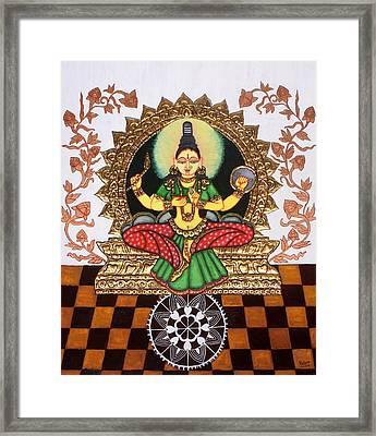 Kolhapuri Lakshmi Framed Print by Pratyasha Nithin