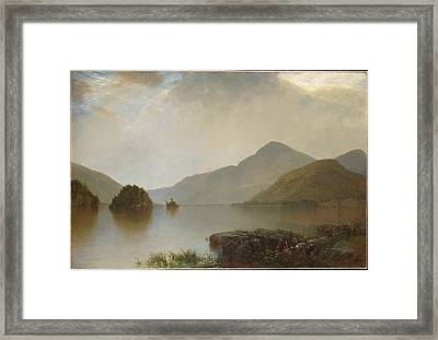Lake George Framed Print by Celestial Images