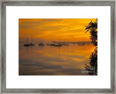 Lake Massabesic - Auburn New Hampshire Usa Framed Print by Erin Paul Donovan