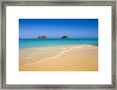 Lanikai, Mokulua Islands Framed Print by Tomas del Amo - Printscapes
