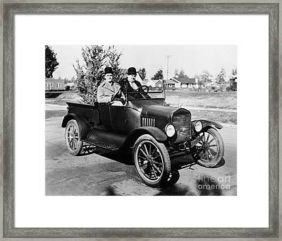 Laurel And Hardy Framed Print by Granger
