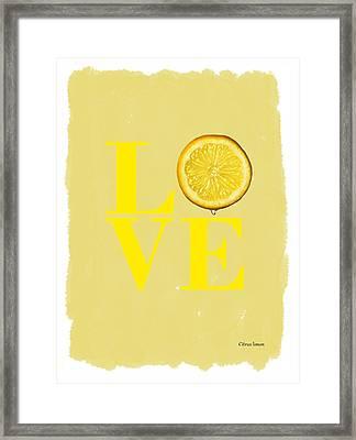 Lemon Framed Print by Mark Rogan