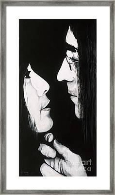 Lennon And Yoko Framed Print by Ashley Price