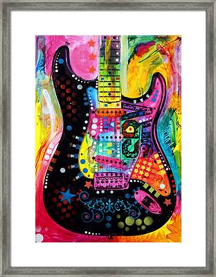 Lenny Strat Framed Print by Dean Russo