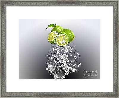 Lime Splash Framed Print by Marvin Blaine