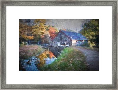 Longfellow's Wayside Inn Grist Mill Framed Print by Jeff Folger