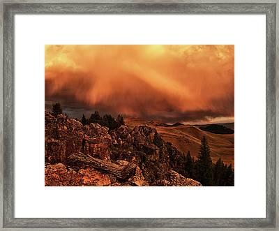 Lost River Sunset Framed Print by Leland D Howard