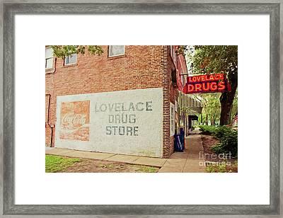 Lovelace Drug Store Framed Print by Scott Pellegrin