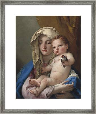 Madonna Of The Goldfinch Framed Print by Giovanni Battista Tiepolo