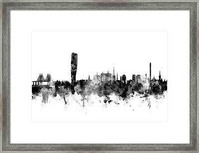 Malmo Sweden Skyline Framed Print by Michael Tompsett
