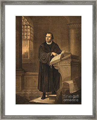 Martin Luther, German Theologian Framed Print by Photo Researchers