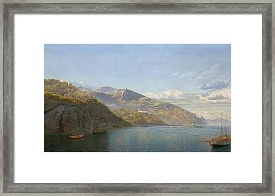Massa, Bay Of Naples Framed Print by John Brett
