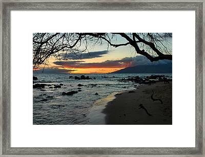 Maui Sunset Framed Print by Stephen  Vecchiotti
