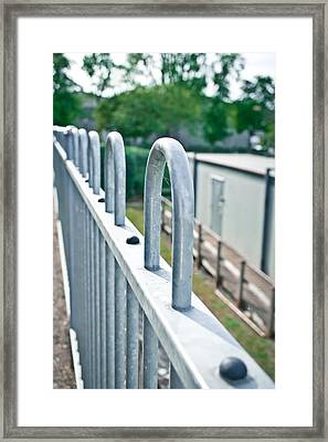 Metal Railings Framed Print by Tom Gowanlock