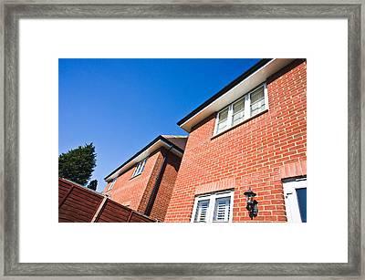 Modern Houses Framed Print by Tom Gowanlock