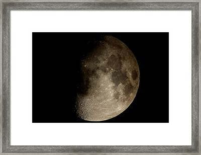 Moon Framed Print by George Leask