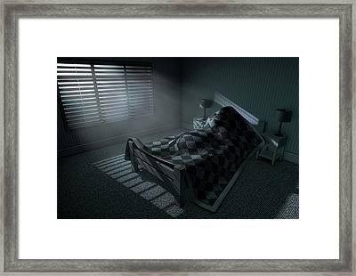 Moonlight Sleep In Framed Print by Allan Swart