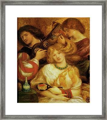 Morning Music Framed Print by Dante Gabriel Rossetti