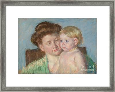 Mother And Child Framed Print by Mary Cassatt