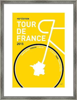 My Tour De France Minimal Poster Framed Print by Chungkong Art