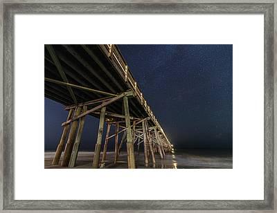 Night Pier Framed Print by Kristopher Schoenleber