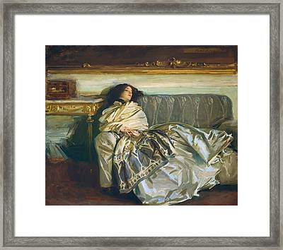 Nonchaloir - Repose Framed Print by Mountain Dreams