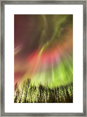 Northern Lights In The Sky Framed Print by Kevin Smith