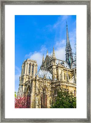 Notre Dame Cathedral - Paris Gothic Cathedral Framed Print by Nila Newsom