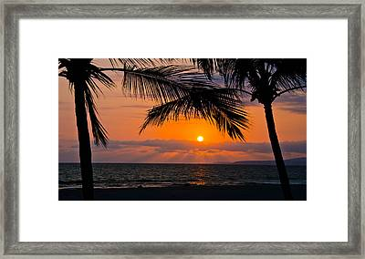 Nuevo Vallarta Sunset Framed Print by About Light  Images