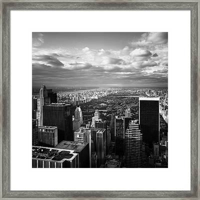 Nyc Central Park Framed Print by Nina Papiorek