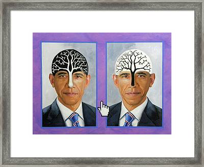 Obama Trees Of Knowledge Framed Print by Richard Barone