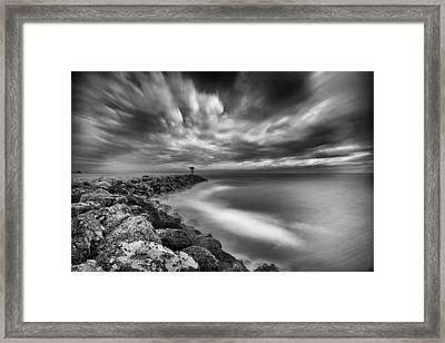 Oceanside Harbor Jetty 3 Framed Print by Larry Marshall