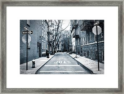 Off The Beaten Path - New York City Framed Print by Mountain Dreams
