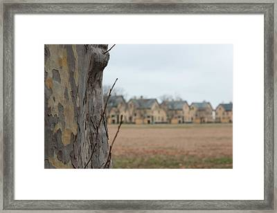 Officers Row Houses Framed Print by Erin Cadigan