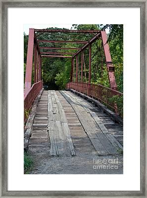 Old Alton Bridge  Framed Print by Ruth  Housley