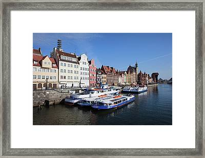 Old Town Of Gdansk In Poland Framed Print by Artur Bogacki