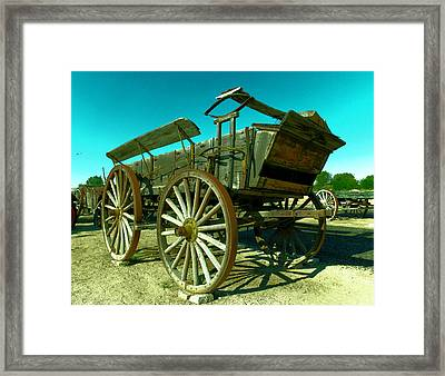 Old Wagon Framed Print by Jeff Swan