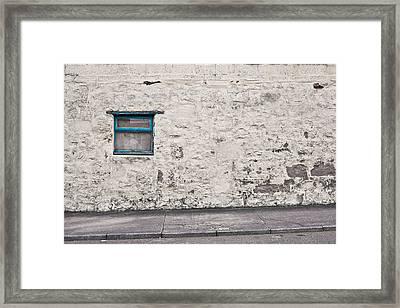 Old Wall Framed Print by Tom Gowanlock