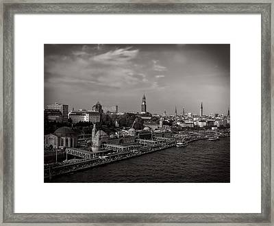 On The Waterfront - Hamburg Germany Framed Print by Mountain Dreams