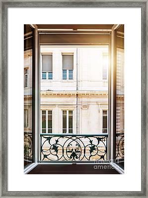 Open Window In Toulouse Framed Print by Elena Elisseeva