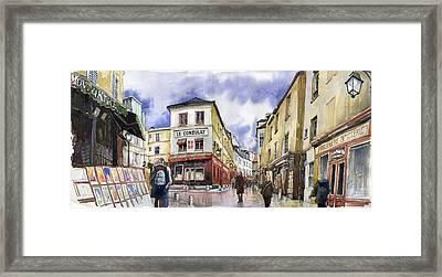 Paris Montmartre  Framed Print by Yuriy  Shevchuk